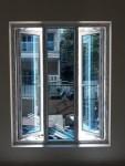 jendela upvc dengan kaca one way silver