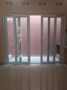 pintu sliding buka lebar