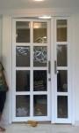 pintu double swing dengan palang upvc